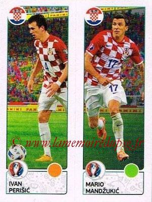 Panini Euro 2016 Stickers - N° 436 - Ivan PERISIC + Mario MANDZUKIC (Croatie)
