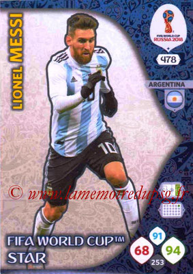 2018 - Panini FIFA World Cup Russia Adrenalyn XL - N° 478 - Lionel MESSI (Argentine) (FIFA World Cup Star) (Nordic Edition)