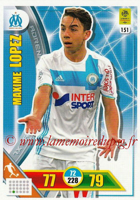 2017-18 - Panini Adrenalyn XL Ligue 1 - N° 151 - Maxime LOPEZ (Marseille)