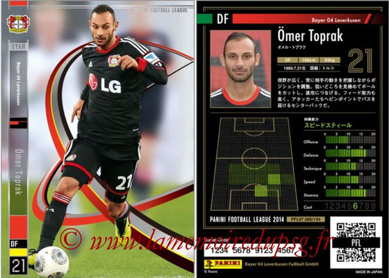 Panini Football League 2014 - PFL07 - N° 095 - Ömer TOPRAK (Bayer Leverkusen) (Star)