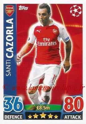 2015-16 - Topps UEFA Champions League Match Attax - N° 013 - Santi CAZORLA (Arsenal FC)