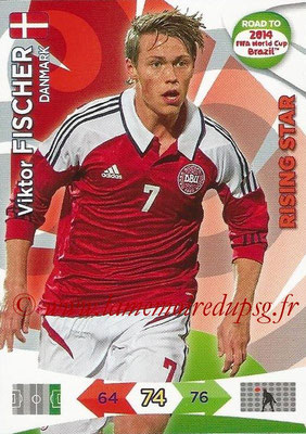2014 - Panini Road to FIFA World Cup Brazil Adrenalyn XL - N° 044 - Viktor FISCHER (Danemark) (Rising Star)