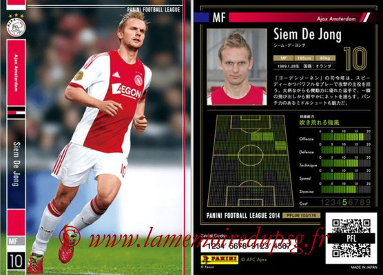 Panini Football League 2014 - PFL08 - N° 103 - Siem DE JONG (Ajax Amsterdam)