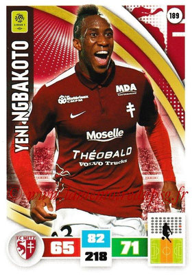 2016-17 - Panini Adrenalyn XL Ligue 1 - N° 189 - Yeni NGBAKOTO (Metz)