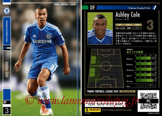Panini Football League 2014 - PFL08 - N° 062 - Ashley COLE (Chelsea)