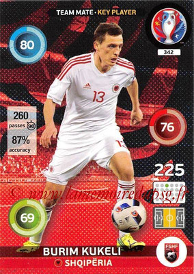 Panini Euro 2016 Cards - N° 342 - Burim KUKELI (Albanie) (Key Player)