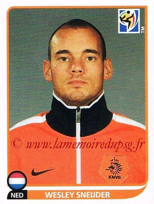 2010 - Panini FIFA World Cup South Africa Stickers - N° 346 - Wesley SNEIJDER (Pays Bas)