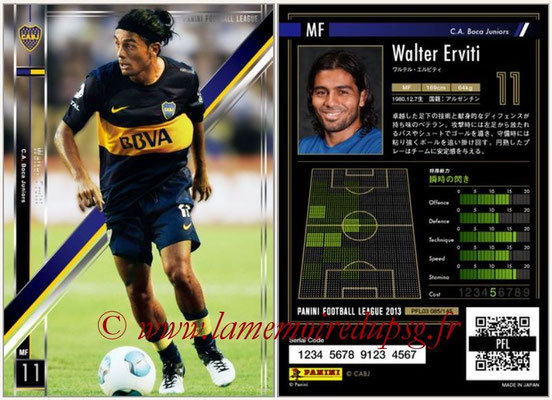 Panini Football League 2013 - PFL03 - N° 085 - Walter Erviti (Boca Juniors)