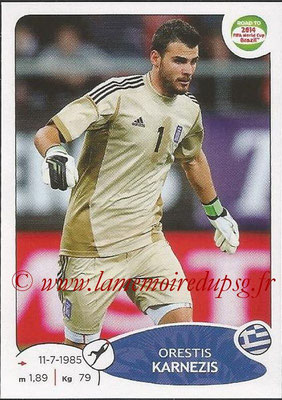 2014 - Panini Road to FIFA World Cup Brazil Stickers - N° 271 - Orestis KARNEZIS (Grèce)
