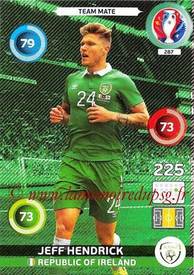 Panini Euro 2016 Cards - N° 287 - Jeff HENDRICK (République d Irlande)
