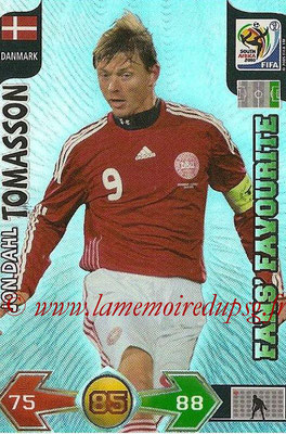 2010 - Panini FIFA World Cup South Africa Adrenalyn XL - N° 084 - Jon Dahl TOMASSON (Danemark) (Fans' Favourite)