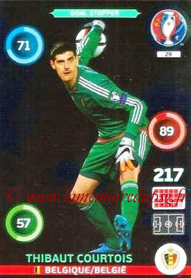 Panini Euro 2016 Cards - N° 029 - Thibaut COURTOIS (Belgique)