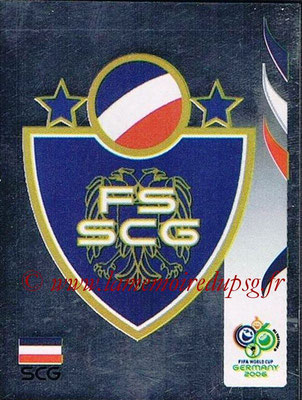 2006 - Panini FIFA World Cup Germany Stickers - N° 208 - Logo Serbie