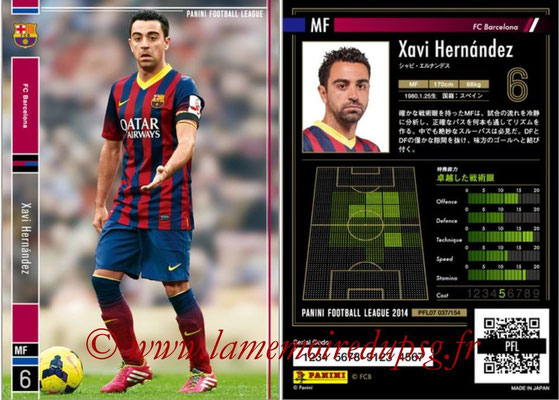 Panini Football League 2014 - PFL07 - N° 037 - Xavi HERNANDEZ (FC Barcelone)