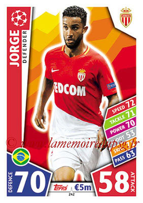 2017-18 - Topps UEFA Champions League Match Attax - N° 242 - JORGE (AS Monaco)