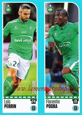 2016-17 - Panini Ligue 1 Stickers - N° 768 + 769 - Loïc PERRIN + Florentin POGBA (Saint-Etienne)