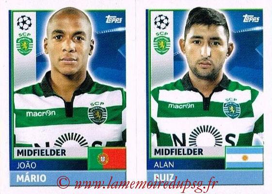 2016-17 - Topps UEFA Champions League Stickers - N° SPO 16-17 - Alan RUIZ + João MARIO (Sporting CP)