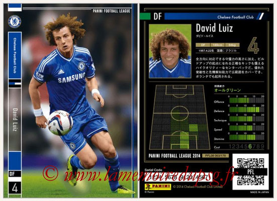 Panini Football League 2014 - PFL08 - N° 063 - David LUIZ (Chelsea)