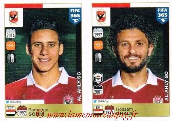 2015-16 - Panini FIFA 365 Stickers - N° 292-296 - Ramadan SOBHI + Hossam GHALY (Al Ahly SC)