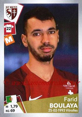 2017-18 - Panini Ligue 1 Stickers - N° T19 - Farid BOULAYA (Metz) (Transfert)