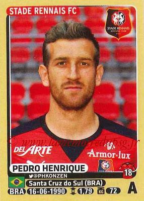 2015-16 - Panini Ligue 1 Stickers - N° 406 - Pedro HENRIQUE (Stade Rennais FC)