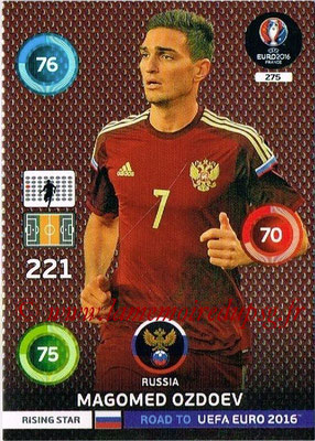 Panini Road to Euro 2016 Cards - N° 275 - Magomag OZDOEV (Russie) (Rising Star)