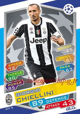 2016-17 - Topps UEFA Champions League Match Attax - N° JUV6 - Giorgio CHIELLINI (Juventus FC)