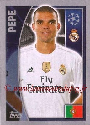 2015-16 - Topps UEFA Champions League Stickers - N° 036 - PEPE (Real Madrid CF)