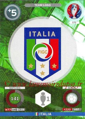 Panini Euro 2016 Cards - N° 172 - Logo Italie (Logo Team)