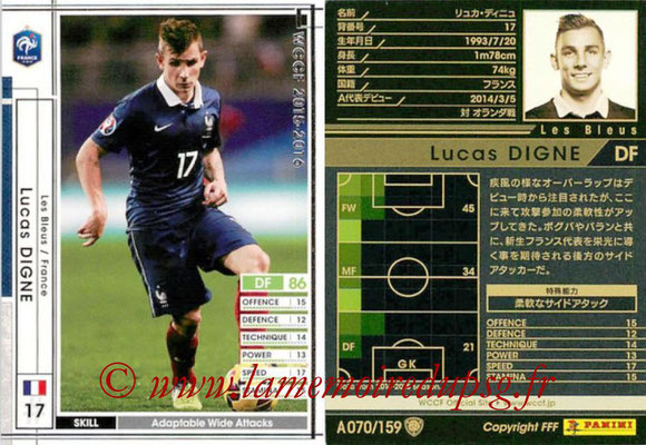 2015-16 - Panini WCCF - N° A070 - Lucas DIGNE (France)