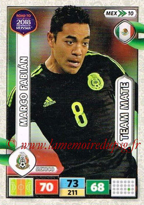 2018 - Panini Road to FIFA World Cup Russia Adrenalyn XL - N° MEX10. - Marco FABIAN (Mexique)