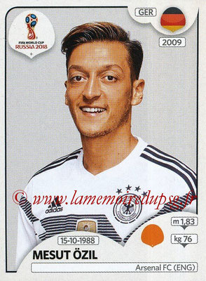 2018 - Panini FIFA World Cup Russia Stickers - N° 447 - Mesut OZIL (Allemagne)