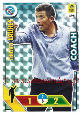 2017-18 - Panini Adrenalyn XL Ligue 1 - N° 489 - Thierry LAUREY (Strasbourg) (Coach)