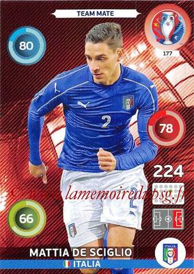 Panini Euro 2016 Cards - N° 177 - Mattia DE SCIGLIO (Italie)
