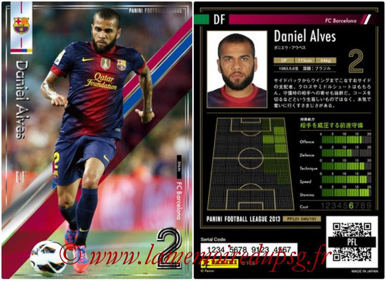 Panini Football League 2013 - PFL01 - N° 046 - Daniel Alves ( FC Barcelona )