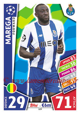 2017-18 - Topps UEFA Champions League Match Attax - N° 229 - MAREGA (FC Porto)