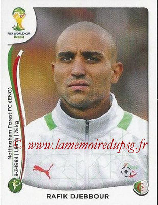 2014 - Panini FIFA World Cup Brazil Stickers - N° 598 - Rafik DJEBBOUR (Algérie)