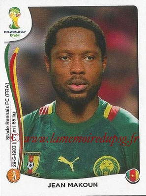 2014 - Panini FIFA World Cup Brazil Stickers - N° 101 - Jean MAKOUN (Cameroun)