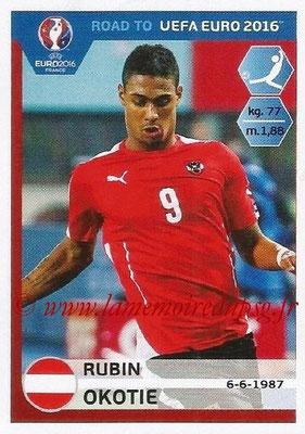 Panini Road to Euro 2016 Stickers - N° 207 - Rubin OKOTIE (Autriche)