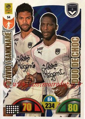 2018-19 - Panini Adrenalyn XL Ligue 1 - N° 054 - OTAVIO + Younousse SANKHARE (Bordeaux) (Duo de Choc)