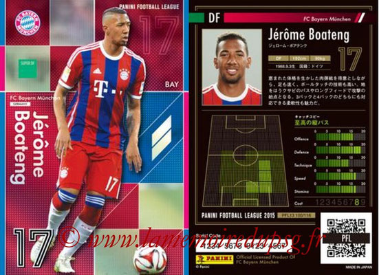 Panini Football League 2015 - PFL13 - N° 100 - Jérôme BOATENG (FC Bayern Munich) (Super DF)
