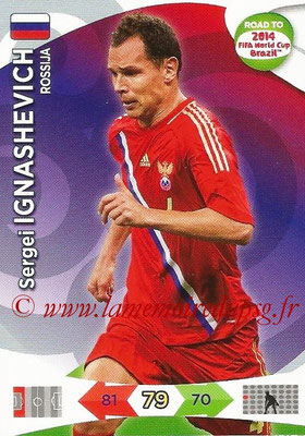 2014 - Panini Road to FIFA World Cup Brazil Adrenalyn XL - N° 159 - Sergei IGNASHEVICH (Russie)