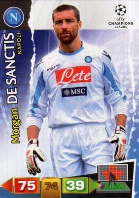 2011-12 - Panini Champions League Cards - N° 172 - Morgan DE SANCTIS (SSC Naples)