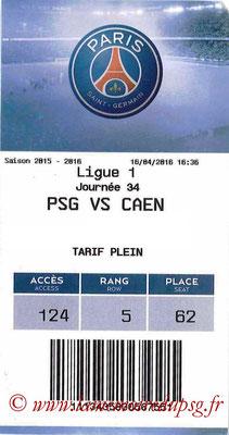 Tickets  PSG-Caen  2015-16