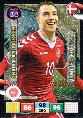 2018 - Panini Road to FIFA World Cup Russia Adrenalyn XL - N° LE-CE - Christian ERIKSEN (Danemark) (Limited Edition)