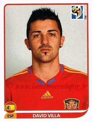 2010 - Panini FIFA World Cup South Africa Stickers - N° 579 - David VILLa (Espagne)
