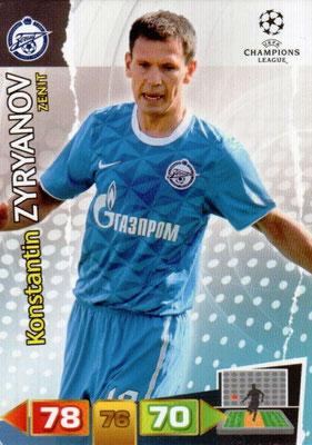 2011-12 - Panini Champions League Cards - N° 271 - Konstantin ZYRYANOV (FC Zenit)