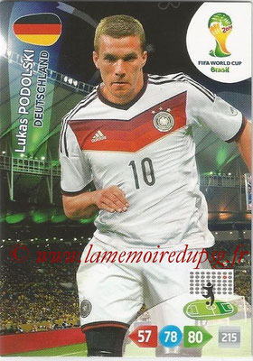 2014 - Panini FIFA World Cup Brazil Adrenalyn XL - N° 115 - Lukas PODOLSKI (Allemagne)