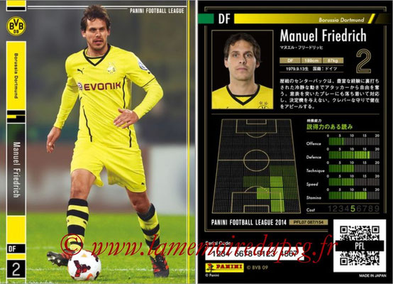 Panini Football League 2014 - PFL07 - N° 087 - Manuel FRIEDRICH (Borussia Dortmund)