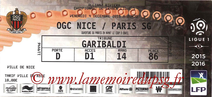 Tickets  Nice-PSG  2015-16